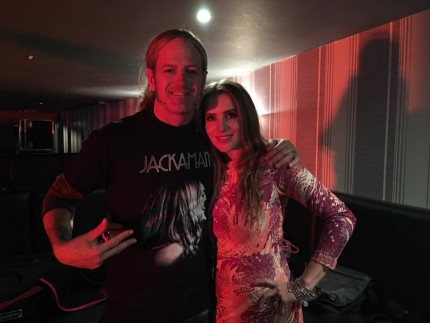Back stage with Doug Aldrich on UK Tour